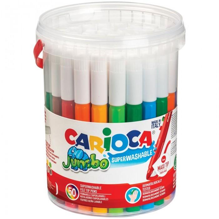 Фломастеры Carioca смываемые Jumbo 36 цветов 50 шт.