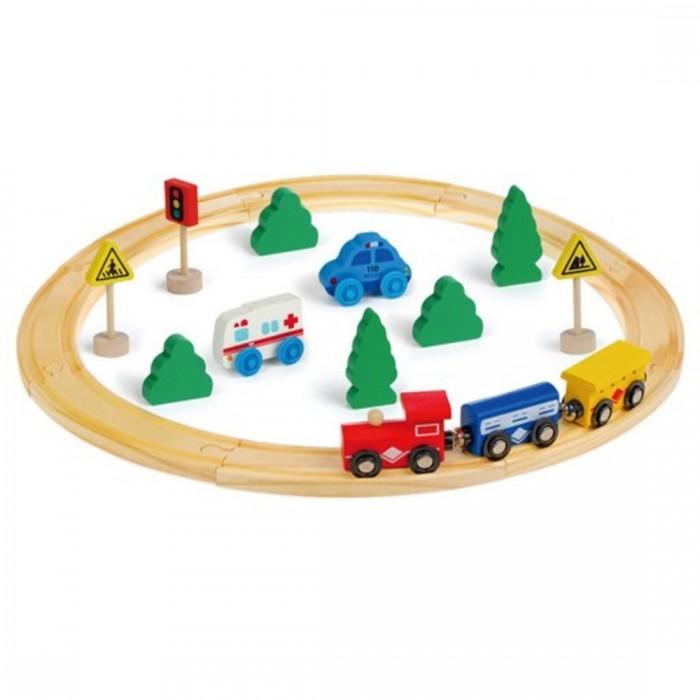 Деревянные игрушки Mapacha Железная дорога