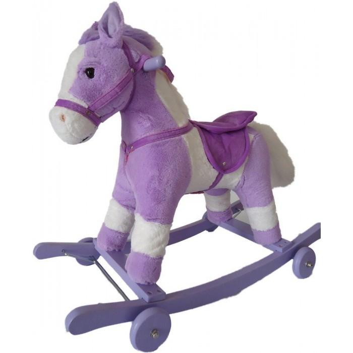 Фото - Качалки-игрушки Наша Игрушка Лошадка на колесах 71 см кукла наша игрушка на прогулке 15 см лошадка