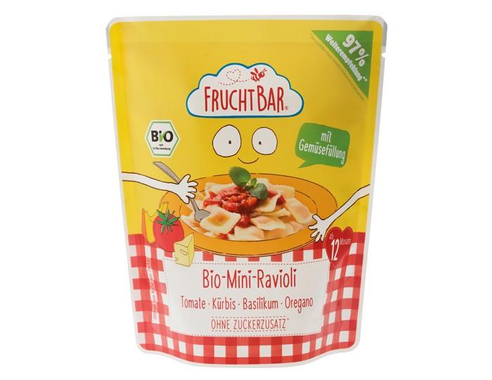 Готовые блюда FruchtBar Органические мини-равиоли в соусе томат, тыква, базилик, орегано с 12 мес. 190 г