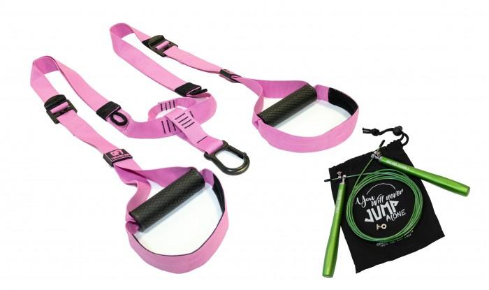 Картинка для Original FitTools Набор Петли для функционального тренинга Pink Unicorn со скакалкой FT-NYG-002