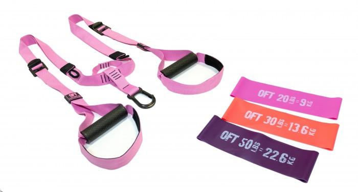 Картинка для Original FitTools Набор Петли для функционального тренинга Pink Unicorn с набором из 3 эспандеров