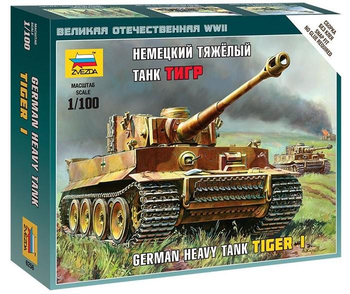 Конструкторы Звезда Модель Немецкий тяжелый танк Тигр