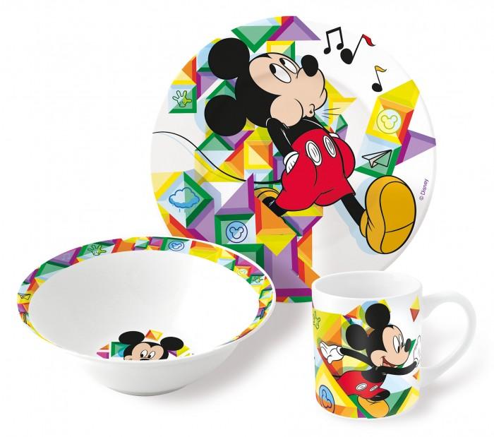 Посуда Stor Набор посуды керамической Микки Цветовой поток (3 предмета) stor контейнер пластиковый stor микки маус 290 мл
