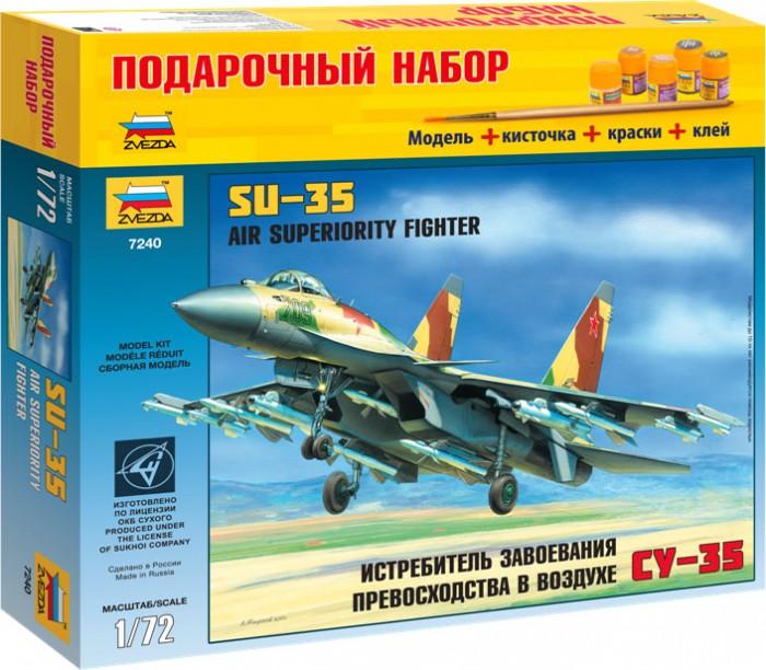 Конструкторы Звезда Модель Подарочный набор Самолет Су-35 звезда сборная модель самолета су 27 звезда