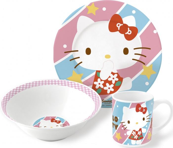 Фото - Посуда Stor Набор посуды керамической Hello Kitty №4 (3 предмета) stor термосумка hello kitty