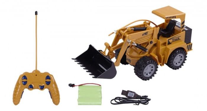 Радиоуправляемые игрушки Пламенный мотор Трактор-погрузчик радиоуправляемый трактор пламенный мотор 870493 желтый