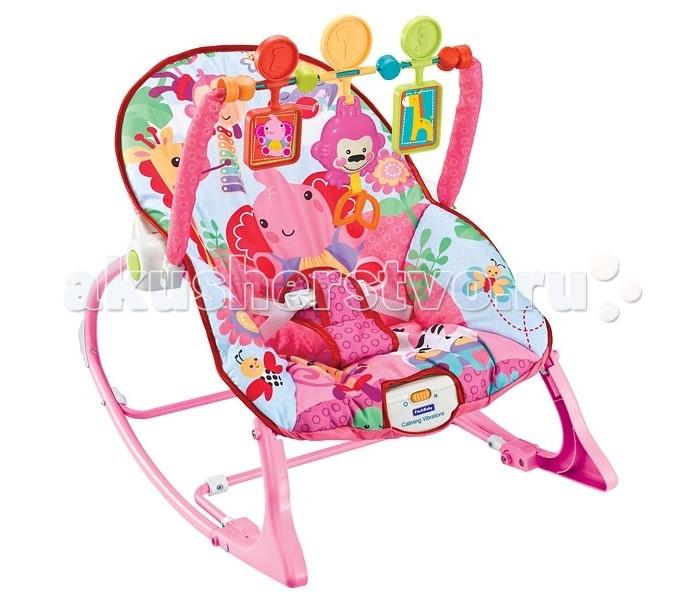 FitchBaby Кресло-качалка с игрушками и вибрацией Infant-To-Toddler Rocker 8617Кресло-качалка с игрушками и вибрацией Infant-To-Toddler Rocker 8617Fitch Baby Кресло-качалка с игрушками и вибрацией Infant-To-Toddler Rocker 8617  Это удобное кресло-качалка подойдёт как для сна, так и для игр. Оно абсолютно безопасно и просто в использовании.  Комфортная ортопедическая спинка, позволяющая находиться в правильном положении. Массажный (вибро) режим обеспечит малышу спокойный и сладкий сон.  Чехол кресла-качалки без труда снимается и стирается, что позволяет поддерживать гигиену на необходимом уровне.  Существует два положения: лёжа и полусидя. Второй вариант особенно подойдёт для игр с подвесными игрушками, среди которых есть и музыкальная, которую легко будет запустить даже малышу – достаточно просто за неё потянуть. При желании их можно снять вместе с дугой.  Для работы блока вибрации требуется одна батарейка типа D (LR20), а для музыкальной игрушки необходимо две батарейки LR44. Батарейки в комплект поставки НЕ входят.  Особенности: Блок вибрации - поможет расслабиться и заснуть Трехточечные ремни безопасности - помогут избежать неприятностей Съемная дуга с тремя игрушками, одна из которых - музыкальная По мере роста малыша шезлонг можно трансформировать в кресло-качалку. Для этого достаточно убрать фиксаторы на ножках Возможность фиксации режима качалки Максимальный вес 18 кг. Вес с упаковкой: 3.570 кг Габариты: 54x41x9 cm Объем: 0.020 куб.м.  Для работы блока вибрации требуется одна батарейка типа D (LR20), а для музыкальной игрушки необходимо две батарейки LR44. (Батарейки в комплект поставки Не входят)<br>