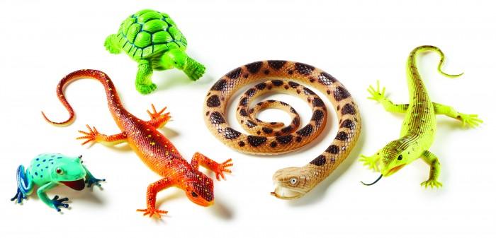Игровые фигурки Learning Resources Набор фигурок Рептилии и амфибии (5 элементов)