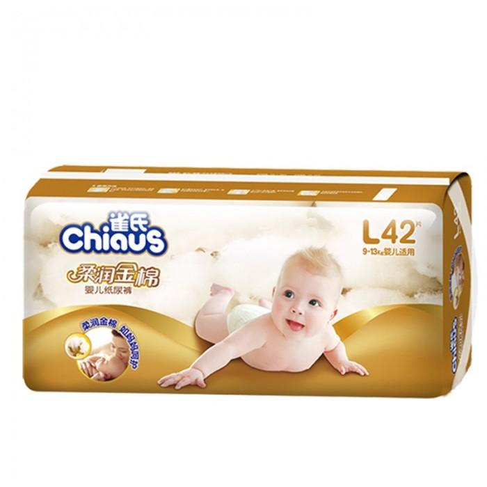 Подгузники Chiaus Подгузники золотой хлопок L (9-13 кг) 42 шт.