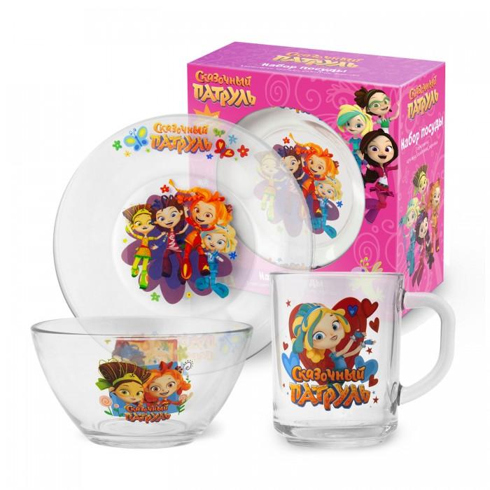 Посуда Nd Play Набор стеклянной посуды Сказочный Патруль Цветочки (3 предмета) недорого