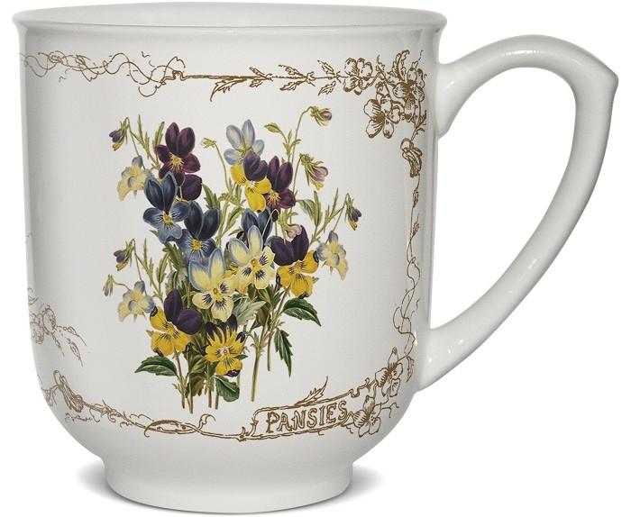 Картинка для PrioritY Кружка Цветы из Стратфорда Анютины глазки в подарочной упаковке 380 мл
