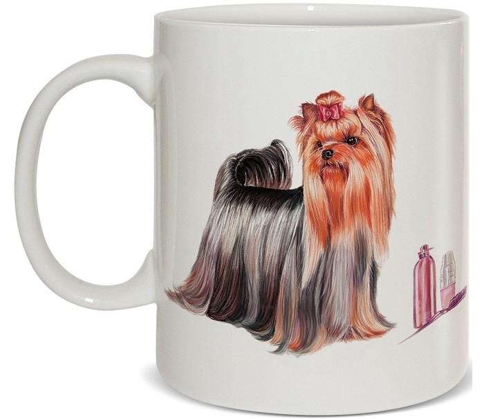Купить Посуда и инвентарь, PrioritY Кружка Человек собаке друг Йоркширский терьер 420 мл