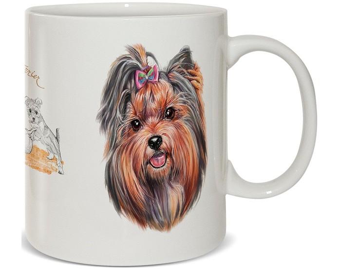 Купить Посуда и инвентарь, PrioritY Кружка Человек собаке друг Йоркширский терьер в подарочной коробке 420 мл
