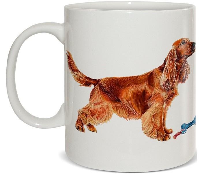 Купить Посуда и инвентарь, PrioritY Кружка Человек собаке друг Спаниель 420 мл