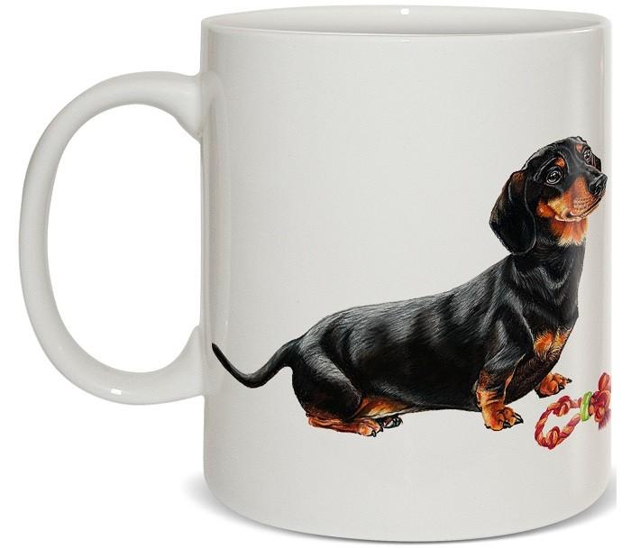 Купить Посуда и инвентарь, PrioritY Кружка Человек собаке друг Такса 420 мл