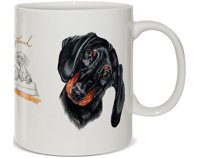 Купить Посуда и инвентарь, PrioritY Кружка Человек собаке друг Такса в подарочной коробке 420 мл