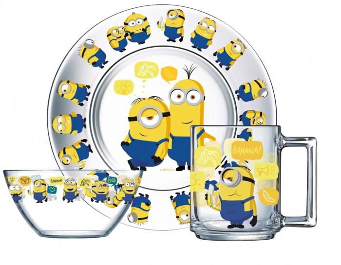 Посуда ОСЗ Набор для завтрака Миньоны 2 (3 предмета) набор картин 2 предмета glasar 50x3x50см