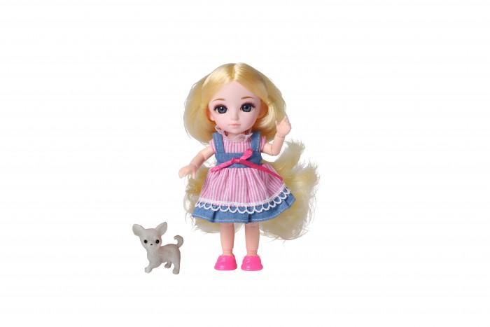 Куклы и одежда для кукол Funky Toys Кукла шарнирная Малышка Лили блондинка с собачкой 16 см