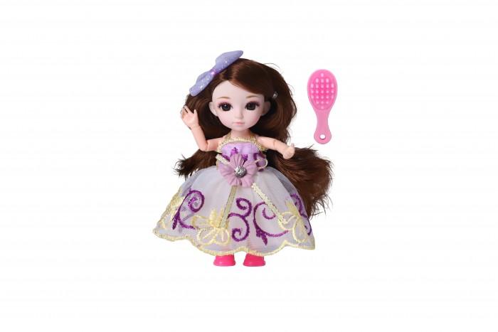 Куклы и одежда для кукол Funky Toys Кукла шарнирная Малышка Лили брюнетка с расческой 16 см
