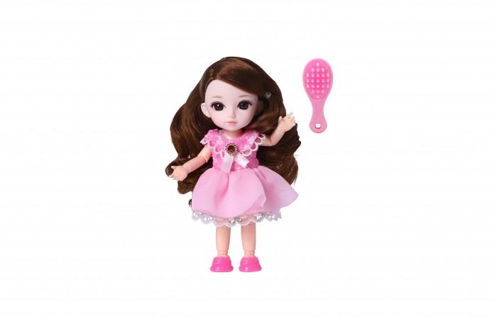 Куклы и одежда для кукол Funky Toys Кукла шарнирная Малышка Лили шатенка с расческой 16 см