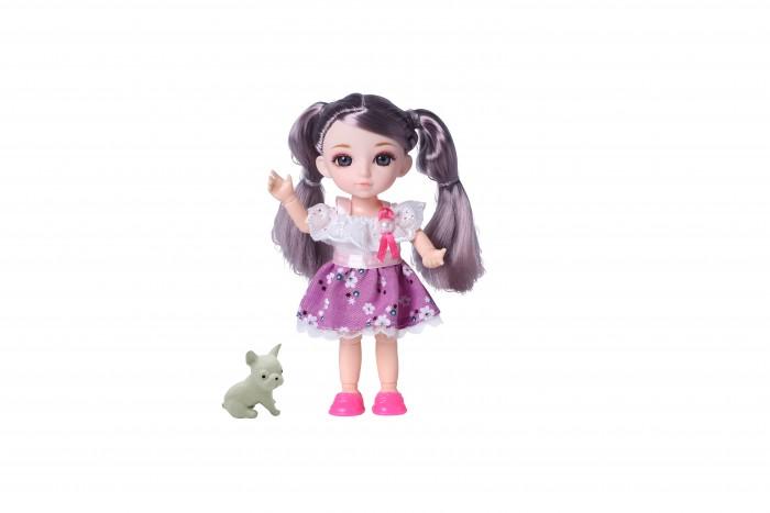 Куклы и одежда для кукол Funky Toys Кукла шарнирная Малышка Лили шатенка с собачкой 16 см