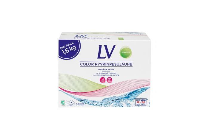 Бытовая химия LV Концентрированный стиральный порошок для цветного белья 1.6 кг бытовая химия lv концентрированный стиральный порошок для цветного белья 1 6 кг