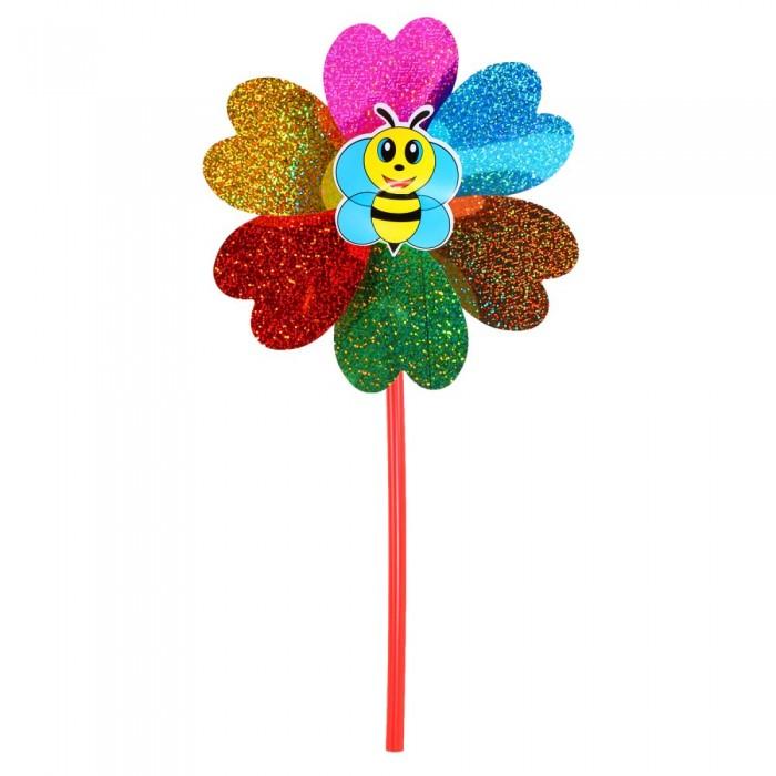 Фото - Товары для праздника Компания друзей Ветерок с пчелкой 50 см + цветок 22 см товары для праздника наша игрушка вертушка цветочек с липестками 35 см