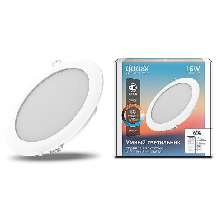 Купить Светильники, Светильник Gauss Светодиодный Smart Home DIM+CCT 16 Вт
