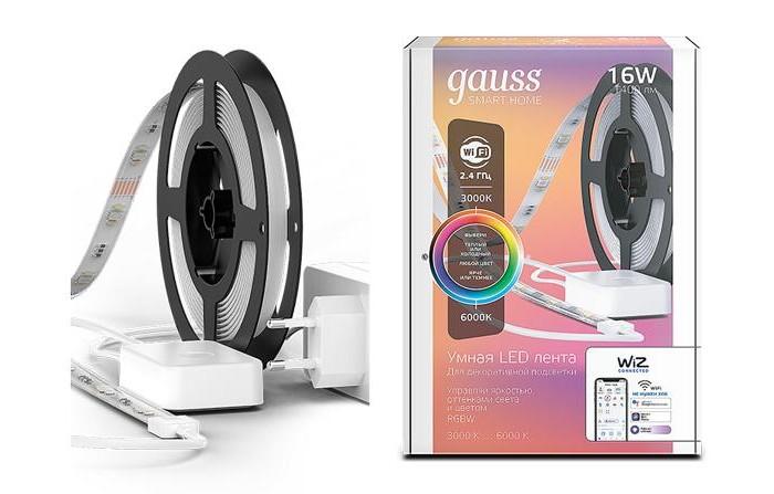 Купить Светильники, Светильник Gauss Светодиодная лента Smart Home RGBW тип CCT+DIM 5 м