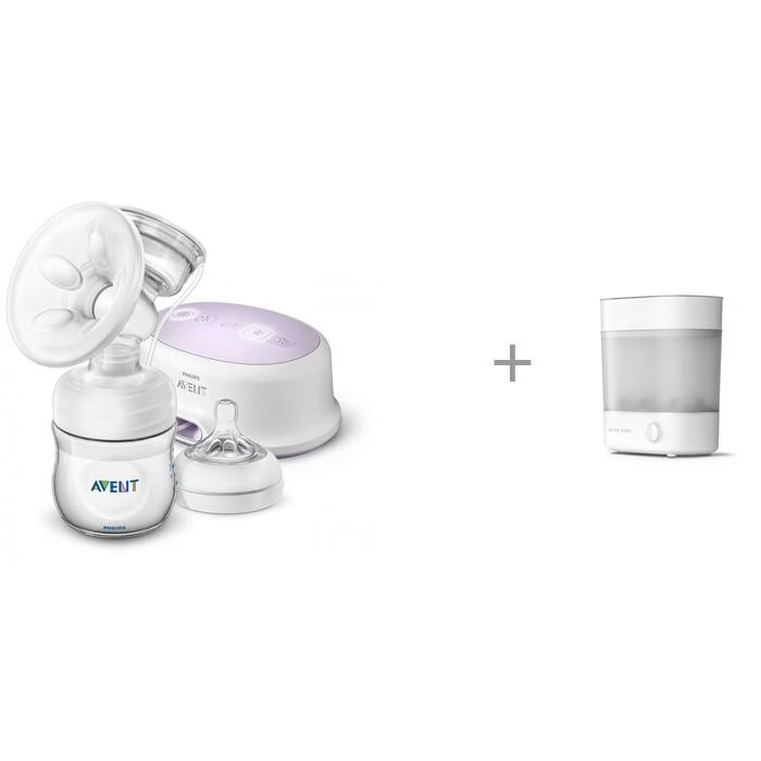 Philips Avent Молокоотсос электронный Ultra Comfort SCF332/31 и электрический стерилизатор SCF291/00