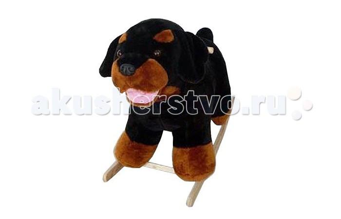 Качалки-игрушки Тутси мягкая Собака-ротвейлер
