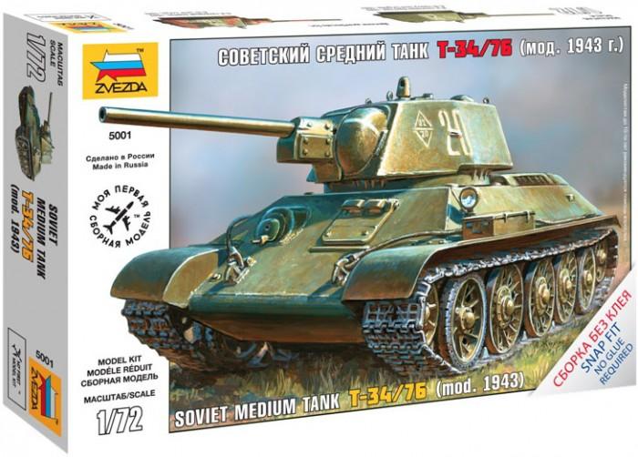 Конструкторы Звезда Модель Советский средний танк Т-34 (без клея) танк звезда матильда ii британский средний 1 100 6171