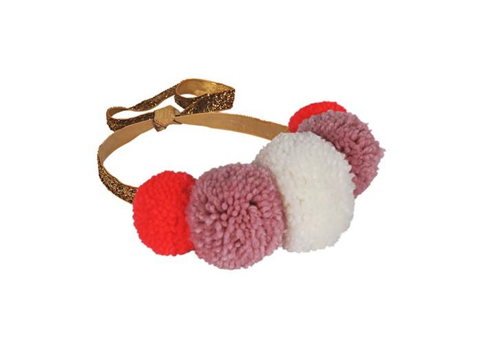 аксессуары s'cool повязка на голову для девочек городские огни 174709 Аксессуары MeriMeri Повязка на голову Помпоны