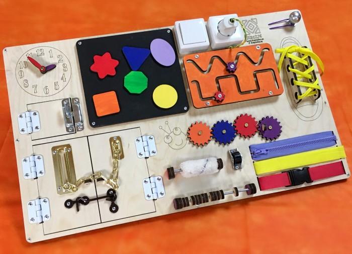 Деревянные игрушки Бизикуб Бизиборд 60х40 см деревянные игрушки бизикуб алфавит русский с цифрами и знаками