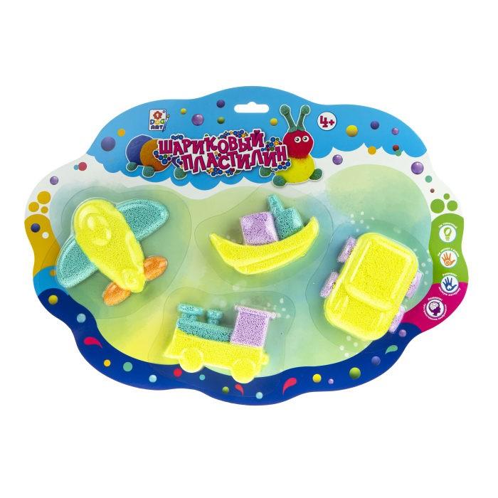 Пластилин 1 Toy Набор шарикового пластилина Транспорт