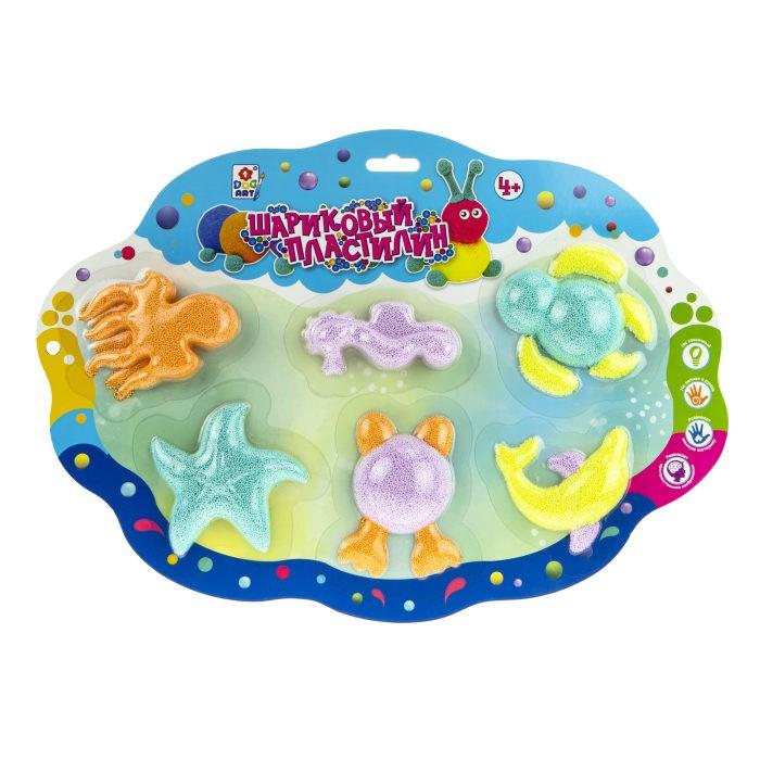 Пластилин 1 Toy Набор шарикового пластилина Морские обитатели