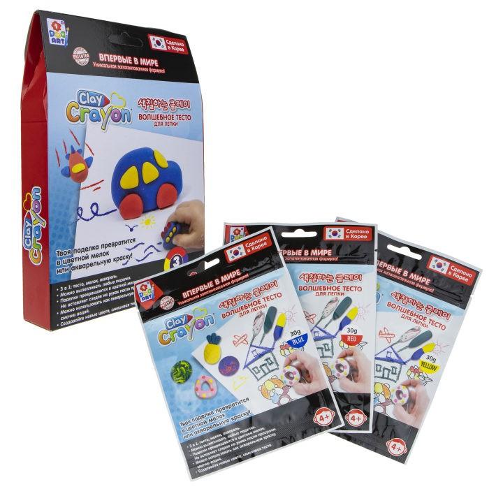 1 Toy Набор Clay Crayon тесто-мелков Машинка 3 цвета по 30 г