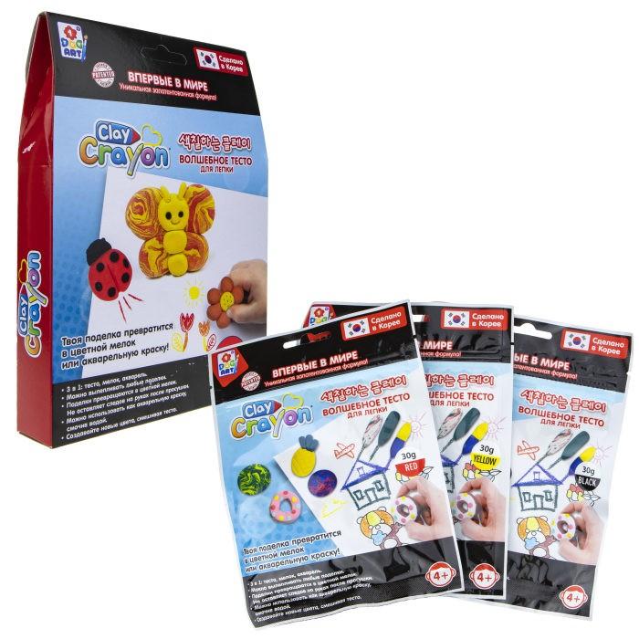 1 Toy Набор Clay Crayon тесто-мелков Бабочка 3 цвета по 30 г