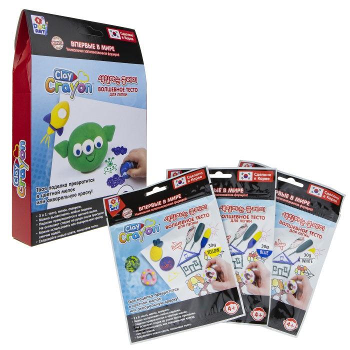 1 Toy Набор Clay Crayon тесто-мелков Инопланетянин 3 цвета по 30 г