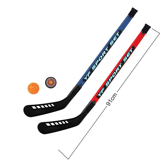 Спортивный инвентарь 1 Toy Набор хоккейный шайба мячик и 2 клюшки 91 см