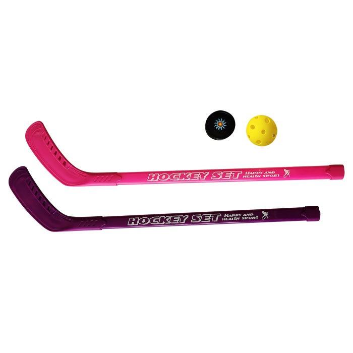 Спортивный инвентарь 1 Toy Набор хоккейный шайба мячик и 2 клюшки 77 см