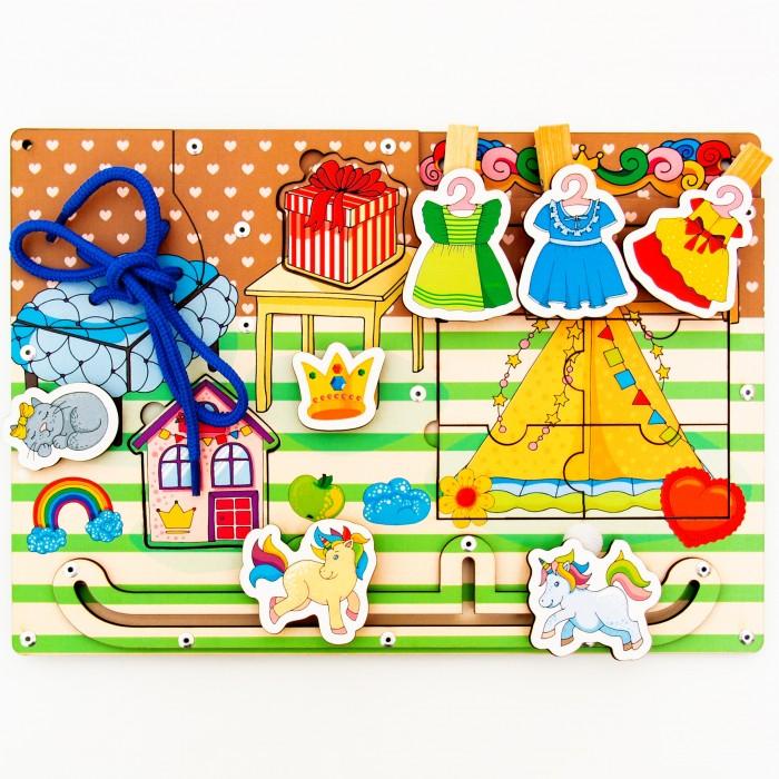 Купить Деревянные игрушки, Деревянная игрушка Сибирские игрушки Бизиборд для девочек
