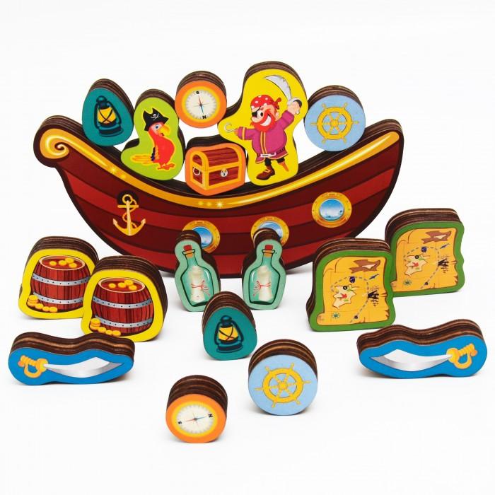 Купить Деревянные игрушки, Деревянная игрушка Сибирские игрушки Балансир Пиратский корабль