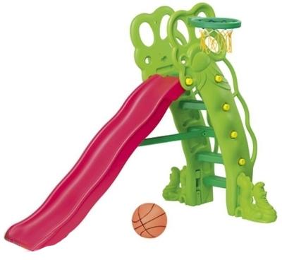 Горка BabyOne Горошина SL-11Горошина SL-11Горка Горошина с баскетбольным кольцом - это красочная горка с необычным дизайном в виде каскада. Эта горка поможет ребёнку развиваться в процессе игры. Она будет прекрасным украшением дома или загородного участка и излюбленным местом игр Вашего ребёнка и его друзей.   Удобство горки очевидно. Она безопасна, так как рассчитана на маленьких детей с учётом особенностей возраста. Удобные ступеньки и закруглённые бортики. Есть возможность установить горку на одном из двух уровней высоты.  Материалы: полый высокопрочный структурный пластик  Основные характеристики:   - рекомендована для детей от 2 до 7 лет; - допустимая нагрузка - до 50 кг; - устойчивая и функциональная, лёгкая в сборке; - для использования внутри и вне помещений; - два уровня наклона; - длина спуска - 137 см; - занимаемая площадь: 90 х 170 см; - размеры: 165 х 88 х 160 см (ДхШхВ); - вес: 18 кг  Комплектация: пластиковая горка, лесенка, баскетбольное кольцо, мяч<br>