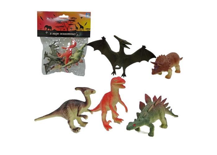 Игровые фигурки 1 Toy Набор динозавров В мире животных 5 шт.