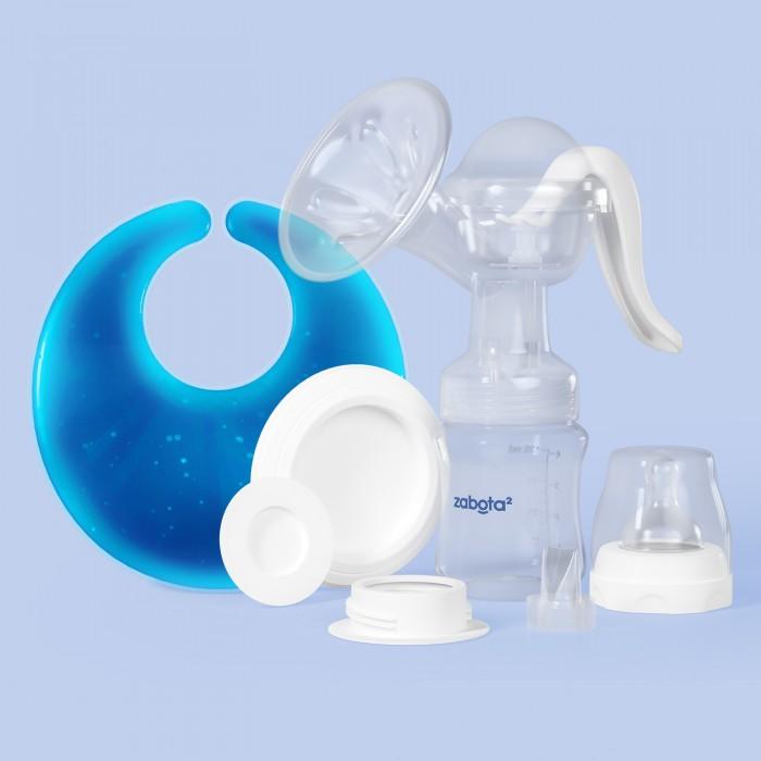молокоотсосы Молокоотсосы Zabota2 Набор: молокоотсос ручной и термонакладка для груди