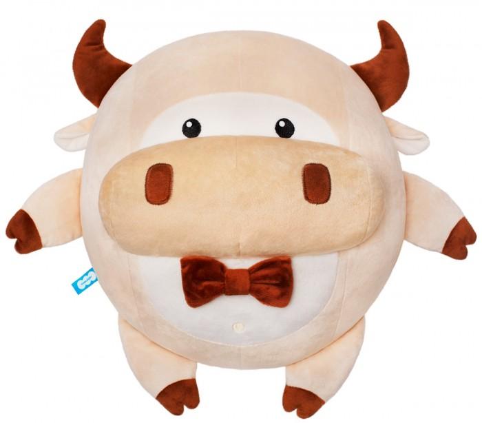 Подушки для малыша Мякиши Игрушка-подушка Бык Валера 32 см softoy ut 1301 игрушка мягкая бык 45 см