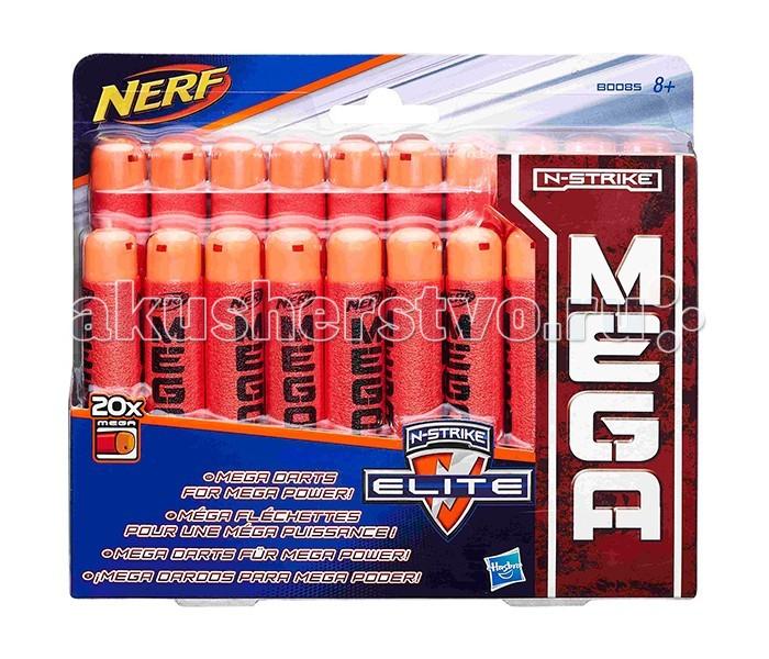 Игрушечное оружие Nerf Hasbro Комплект игрушечных стрел Мега 20 шт. игрушечное оружие nerf hasbro зомби страйк 30 стрел