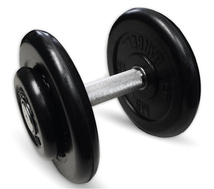 Купить Спортивный инвентарь, MB Bardell Гантель профи 13.5 кг